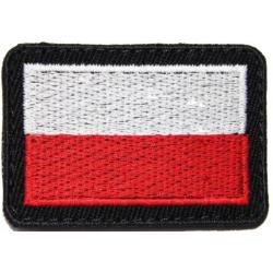 Flaga na mundur biało czerwona